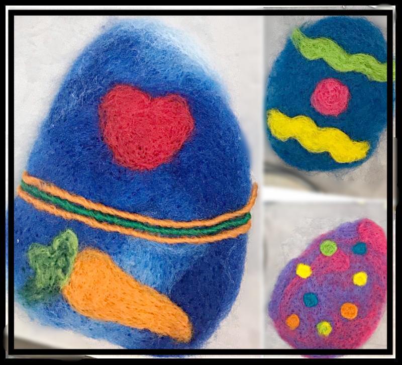 Felting Decorative Eggs