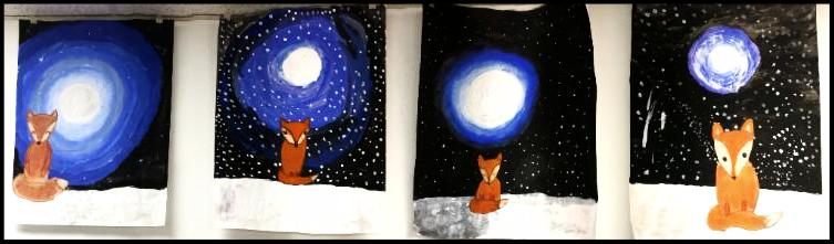 Fox in the Moonlight Exhibit